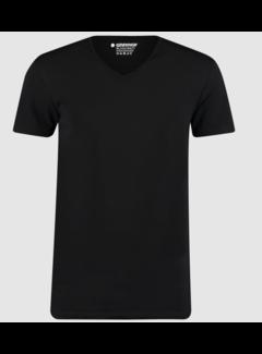 Garage Basic T-shirts 2-pack V-hals Bio Cotton Bodyfit Zwart (0222 - 200)