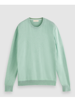 Scotch & Soda Sweater Ecovero Blend Groen (160906 - 0845)