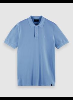 Scotch & Soda Polo Korte Mouw Seaside Blauw (160893 - 4155)