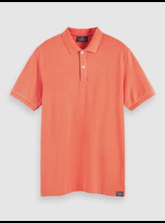 Scotch & Soda Polo Korte Mouw Oranje (156829 - 3666)