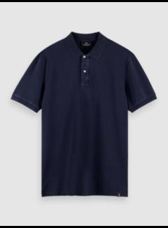 Scotch & Soda Polo Korte Mouw Navy Blauw (160893 - 0002)