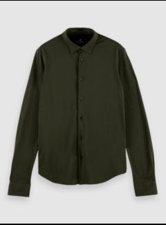 Scotch & Soda Overhemd Slim Fit Structuur Groen (158441 - 1214)