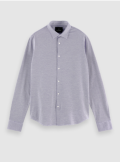 Scotch & Soda Overhemd Slim Fit Print Navy Blauw (158441 - 0218)