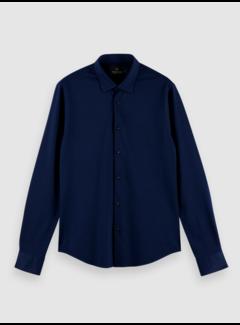 Scotch & Soda Overhemd Slim Fit Navy (160777 - 0222)