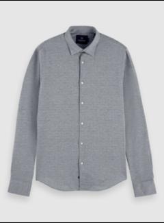 Scotch & Soda Overhemd Slim Fit Grijs/Blauw (158441 - 0220)