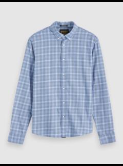 Scotch & Soda Overhemd Ruit Lichtblauw (152203 - 0218)