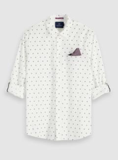 Scotch & Soda Overhemd Regular Fit Wit Print (152183 - 0220)