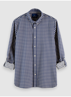 Scotch & Soda Overhemd Regular Fit Ruit Blauw (158412 - 0219)