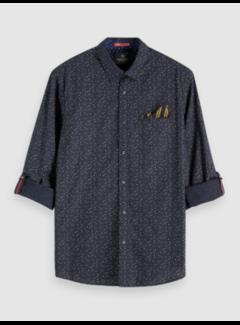 Scotch & Soda Overhemd Regular Fit Print Navy (152183 - 0222)
