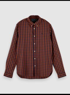 Scotch & Soda Overhemd Geruit Oranje/Navy (152152 - 0218)