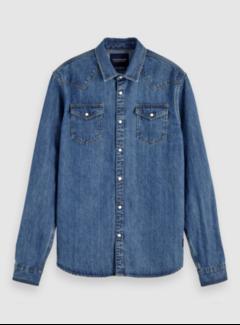 Scotch & Soda Overhemd Denim Indigo Blauw (153555 - 0134)