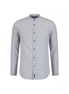 Dstrezzed Overhemd Seersucker Stripe White/Blue (351020D - 100)