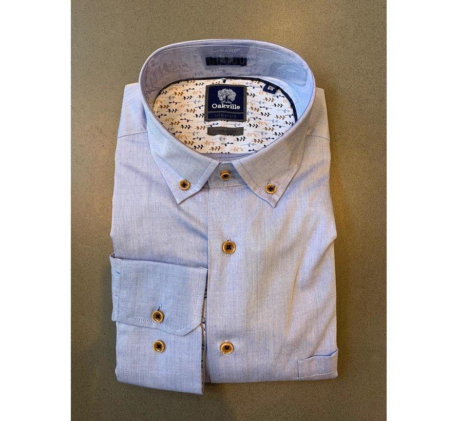 Oakville Overhemd Met Borstzak Licht Blauw (OV100-5/016)