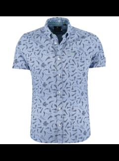 New Zealand Auckland Overhemd Korte Mouw Canvastown Blauw (21CN580S - 340)