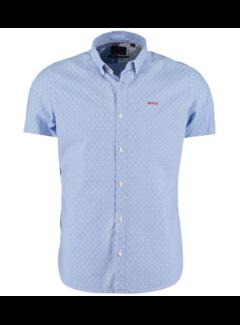 New Zealand Auckland Overhemd Korte Mouw Rere Licht Blauw (21CN538S - 370)