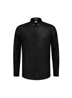 Dstrezzed Overhemd NOS Stretch Poplin Zwart (303126 - 999)