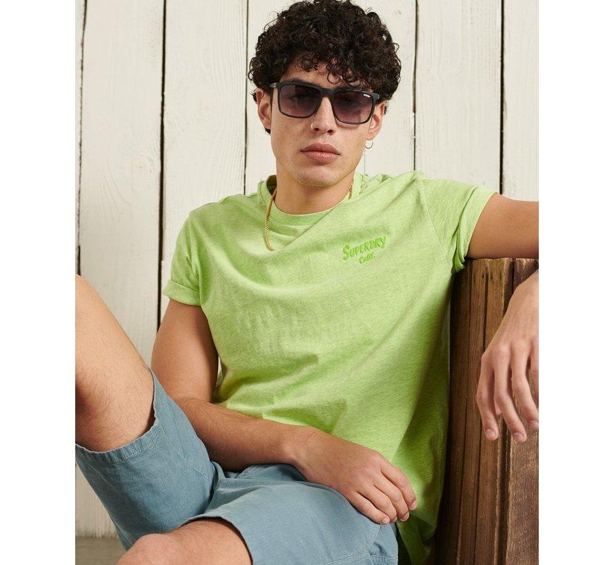 Ronde Hals T-shirt LA Beach Acid Lime (M1011009A - 55E)