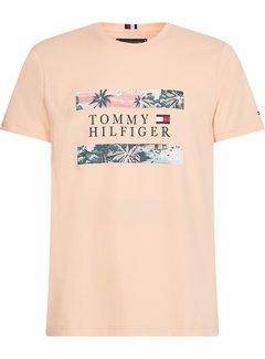 Tommy Hilfiger T-shirt Hawaiian Flag Peach (MW0MW17685 - TLR)