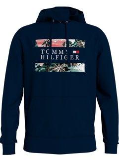 Tommy Hilfiger Hooded Sweater Hawaiian Flag Desert Sky (MW0MW18370 - DW5)