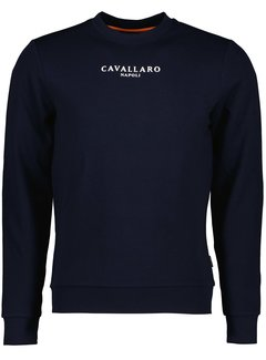 Cavallaro Napoli Sweater Oranje EK Editie Navy (120212015 - 699000)