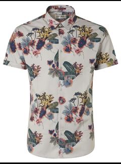 No Excess Korte Mouw Overhemd Print Chalk (95460306 - 017)