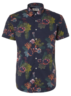 No Excess Korte Mouw Overhemd Print Night (95460306 - 078)