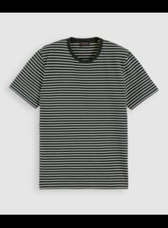 Scotch & Soda T-shirt Ronde Hals Streep Groen (162372 - 0220)