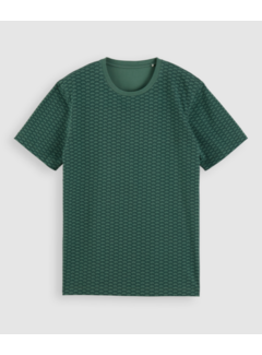 Scotch & Soda T-shirt Ronde Hals Print Groen (162372 - 0219)
