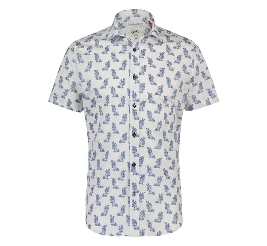 Korte Mouw Overhemd Parrot Illustration (20.03.092)