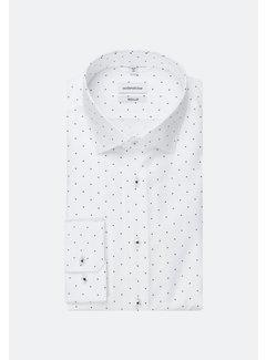 Seidensticker Seidensticker Overhemd Regular Fit Stippen Wit (01.194780 - 17)