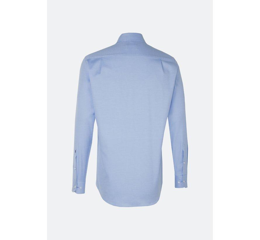 Seidensticker Overhemd Regular Fit Gemêleerd Blauw (01.119487 - 12)