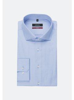 Seidensticker Seidensticker Overhemd Regular Fit Gemêleerd Blauw (01.119487 - 12)