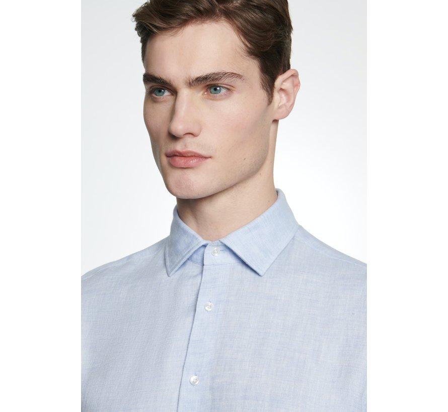 Seidensticker Overhemd Linnen Shaped Fit Blauw (01.294660 - 11)