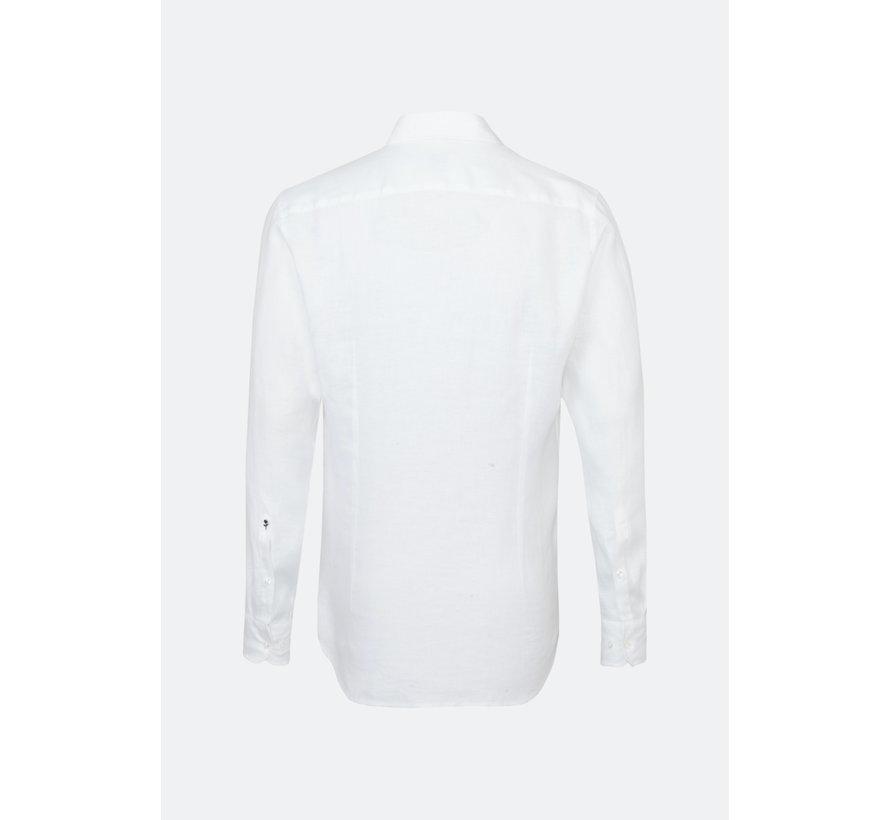 Seidensticker Overhemd Linnen Shaped Fit Wit (01.294660 - 01)