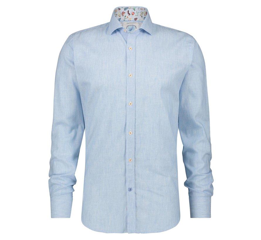 Overhemd Linnen Blauw (22.02.041)