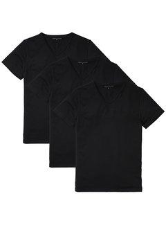 Tommy Hilfiger T-shirts V-Hals Basic 3Pack Zwart (2S87903767 -  990)