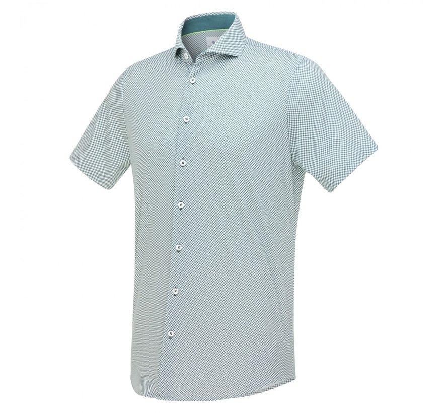 Overhemd Jersey Korte Mouw Groen (1267.11)