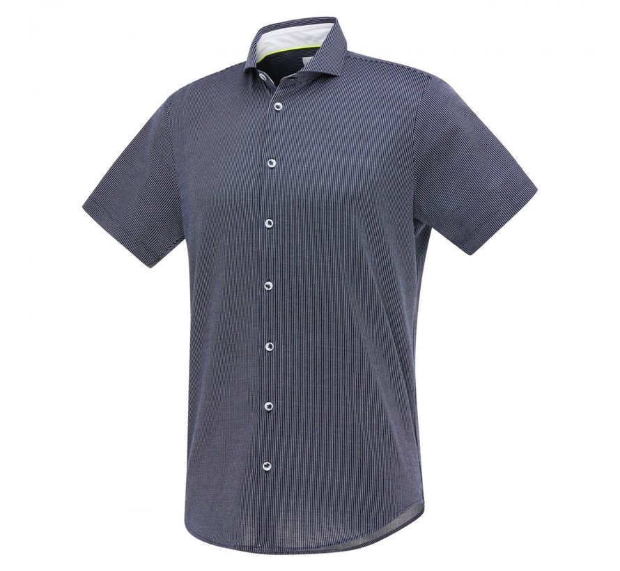 Overhemd Jersey Korte Mouw Navy Blauw (1269.11)