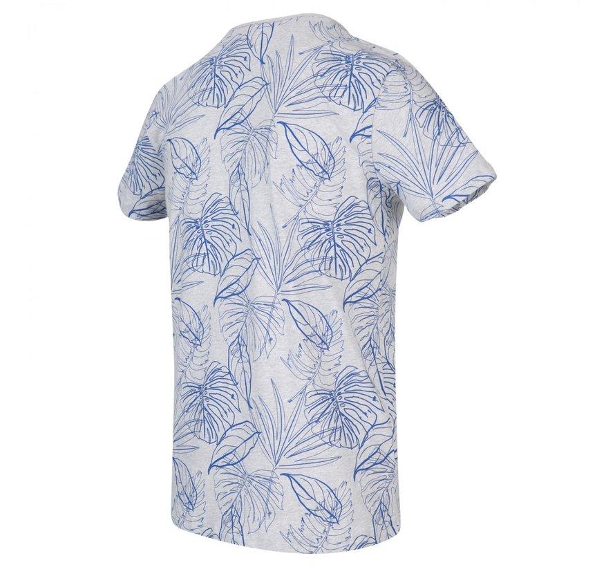 T-shirt Ronde Hals Print Cobalt Blauw (KBIS20 - M54 - Cobalt)