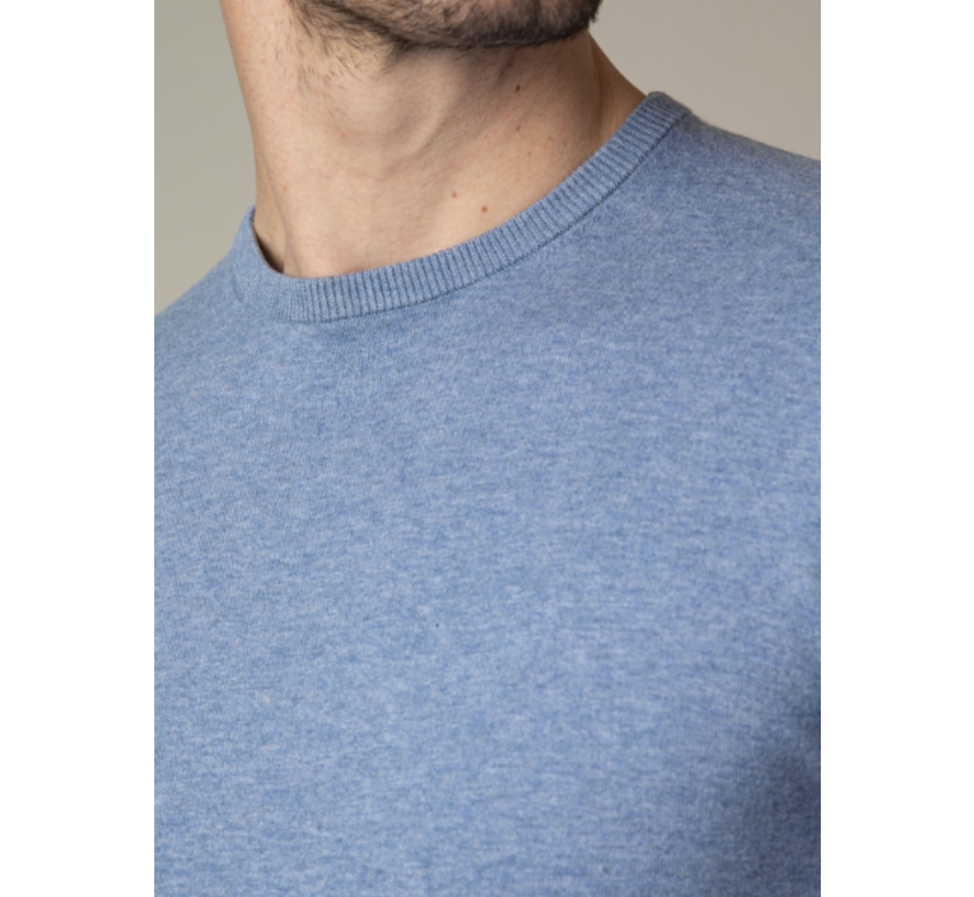 Pullover Tomasso R-Neck Mid Blue (118211005 - 650000)