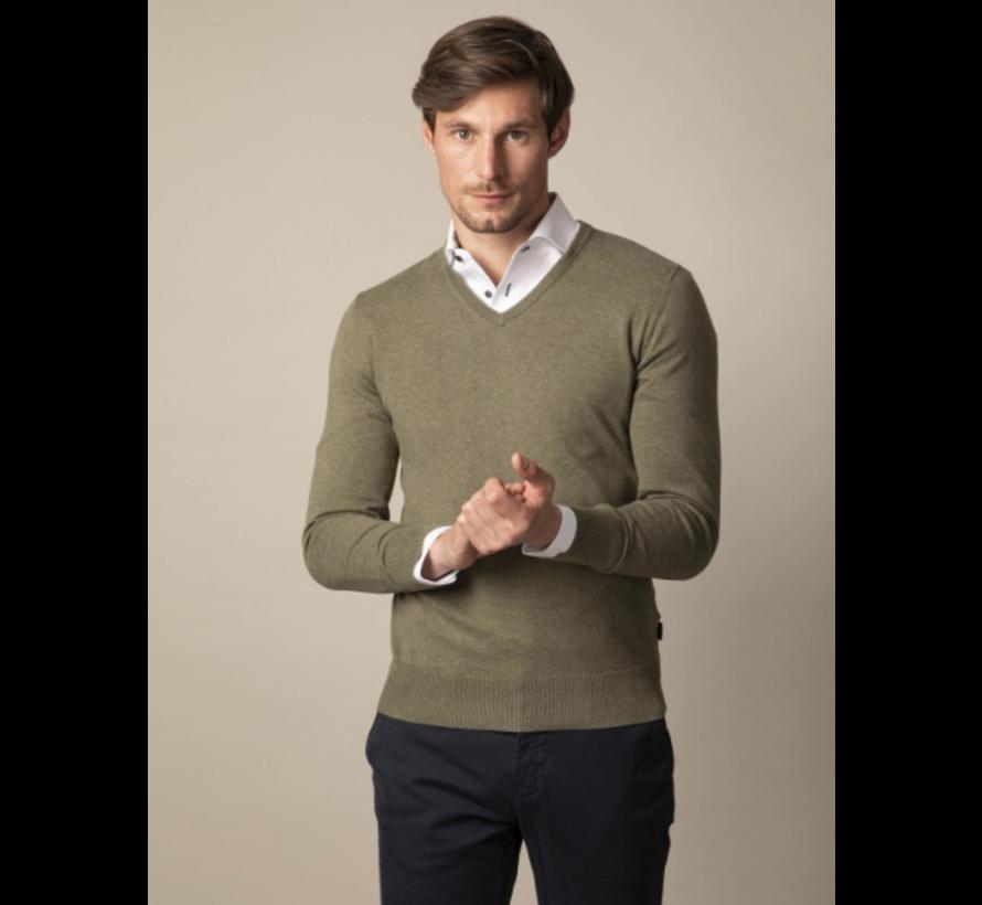 Pullover Tomasso V-Neck Mid Green (118211006 - 550000)