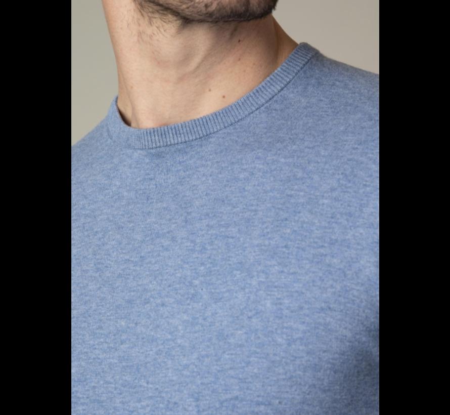 Pullover Tomasso V-Neck Mid Blue (118211006 - 650000)
