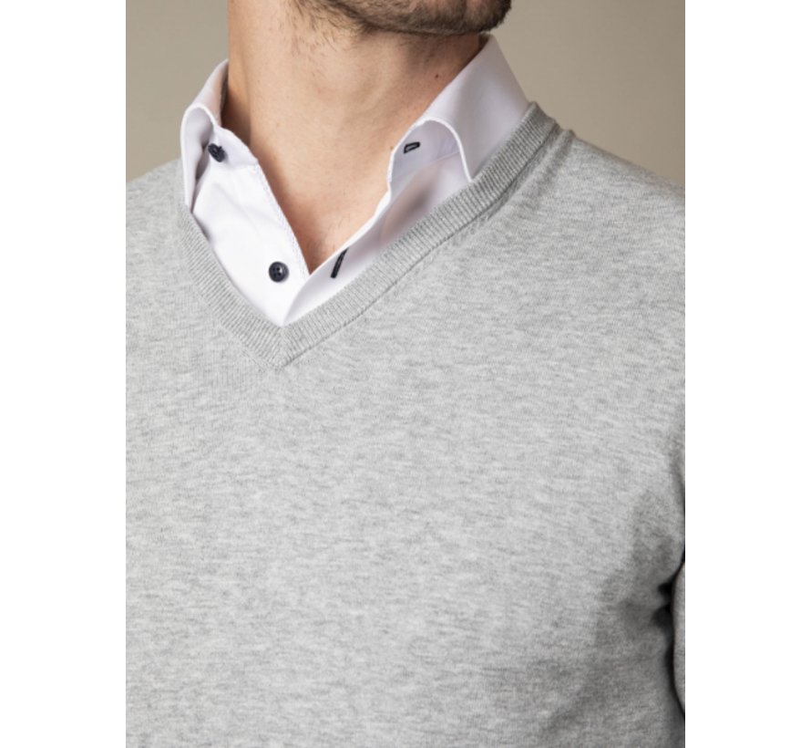 Pullover Tomasso V-Neck Grey Melange (118211006 - 950000)