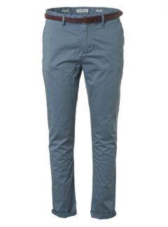 No Excess Chino Slim Fit Steel Blue (957110115 - 123)