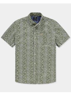 New Zealand Auckland Overhemd Korte Mouw Mahakirau Moss Groen (21BN571S - 498)