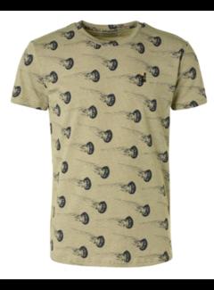 No Excess T-shirt Ronde Hals Print Groen (11320307 - 050)
