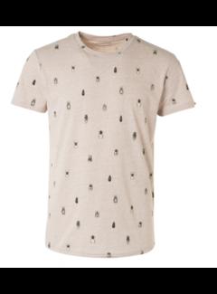 No Excess T-shirt Ronde Hals Khaki Groen (11320314 - 043)