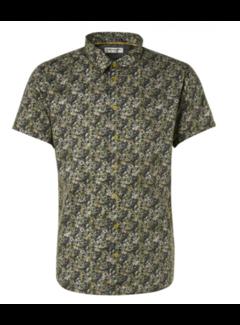 No Excess Overhemd Korte Mouwen Stretch Print Groen (11420309 - 050)