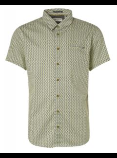 No Excess Overhemd Korte Mouwen Stretch Print Groen (11420317 - 050)