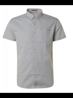 No Excess Overhemd Korte Mouwen Stretch Print Artic Blauw (11420317 - 133)